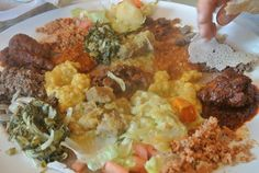 ethiopian food ... always trying new cuisines!