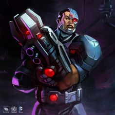 Double Dose–Cyborg Announced for Infinite Crisis and New Green Lantern Artwork Dc Universe Online, Comics Universe, Vic Stone, Cyborg Dc Comics, Strong Black Man, Infinite Crisis, Game Character Design, New Green, Dc Heroes