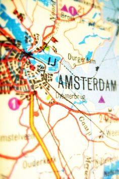 Amsterdam, map, etsy, risamaymay, photography