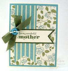Handmade Mothers Day Card  #secretlifeofpaper #stampinup #stampinupcards