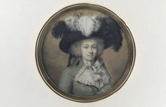 Une jeune femme, coiffée d'un chapeau à plumes Guillon, Charles Nicolas  © Musée du Louvre, dist. RMN / Martine Beck-Coppola Département des Arts graphiques