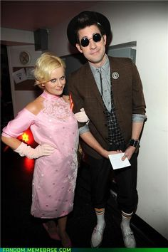 """Amy Pohler and John Krazinski as Andi and Ducky from """"Pretty In Pink"""""""
