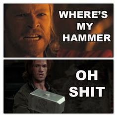 "I was thinking ""Thor's going to be looking for that"" during the episode... hah!"