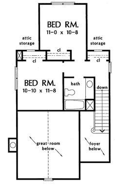 Country Floor Plan - Upper Floor Plan Plan #929-254