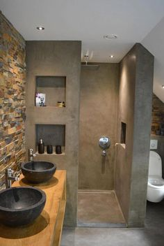 115 Extraordinary Small Bathroom Designs For Small Space. Modern Bathroom Designs For Small Spaces Modern Bathroom Design, Bathroom Interior Design, Serene Bathroom, Bath Design, Bathroom Small, Budget Bathroom, Bathroom Black, Basement Bathroom, Bathroom Double Sinks