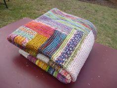 Log Cabin Blanket By Cara Davis - Free Knitted Pattern - (ravelry)