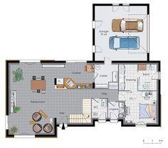 Maison à énergie positive 2 - Détail du plan de Maison à énergie positive 2 | Faire construire sa maison