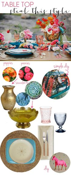 Steal This Style // how you can make this vibrant and whimiscal mid century table top - yours!