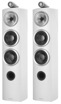 If you're looking for the same 800 series sound just in a smaller and lighter floorstanding design, then the Bowers and Wilkins 804 Diamond D3 Speakers is just for you. White.