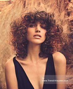 LA BIOSTHETIQUE Lange Braun Weiblich Curly Farbige Französisch Frauen Frisuren hairstyles