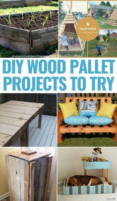Need ideas on ways to use wood pallets? There are so many creative ways to take a few pallets and turn them into something pretty amazing. Check out 26 Creative Ways To Use Wood Pallets and get inspired today! Diy Projects To Try, Crafts To Do, Pallet Projects, Diy Crafts, Pallet Ideas, Diy Storage, Diy Organization, Craft Party, Cool Diy