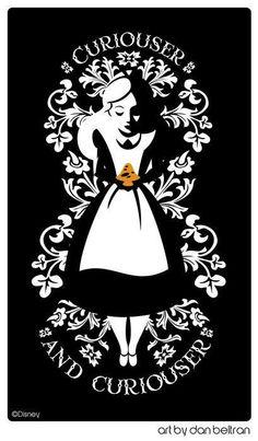 Alice in Wonderland art and tattoo idea from www.danbeltran.com