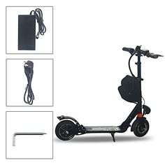 AGDA Electric Scooter Adult Lightweight Folding Portable Scooter Aluminum Lithium Powered Electric Motor bike Scooter Black *** Be sure to check out this awesome product.