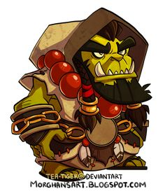 did this a while ago and never posted it. Chibi Thrall from World of Warcraft. Woot for shamans!