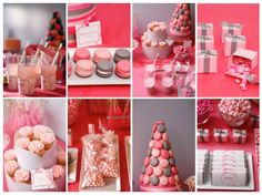 I Absolutely Love The Valentines Themed Dessert Buffet Created By Amy Atlas But This Idea Theme Can Be Used For Any Red Pink White Themed