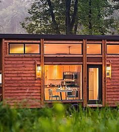 Groovy New Tiny House with Full-Size Appliances Can Sleep 8 - Curbed