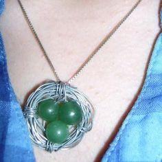DIY Wire Necklace  : DIY Wire Bird Nest Necklace