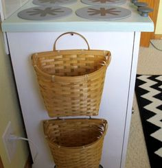 Recycling baskets. I can used one basket for plastic and the other for cans. Love it! Or just for extra counter space..