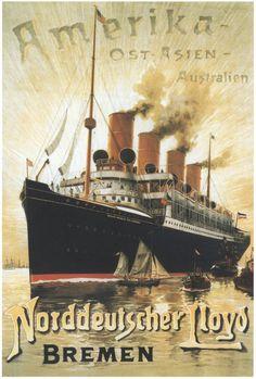 El trasatlántico Kaiser Wilhelm der Große, un express steamer imperial de finales del siglo XIX. :: Navegar es preciso