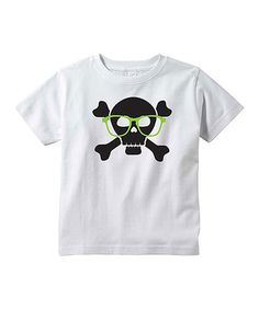Love this White & Black Nerd Pirate Tee - Toddler & Boys on #zulily! #zulilyfinds