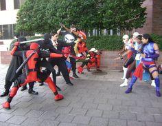MVC 3 guys vs girls by Cliffather.deviantart.com on @DeviantArt #Marvel #Capcom #psylocke #deadpool #cosplay