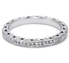 This band would match my engagement ring perfectly! Plus, I like that the inside of the band is solid, so it can be engraved.   Tacori Style no: 2616B