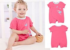 Newborn Infant Baby Girls Short Sleeve Bodysuits Romper Jumpsuit Outfit 6-12M #ibaby #Everyday