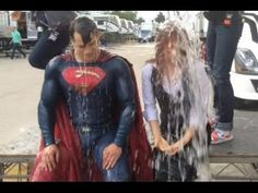 Batman V Superman Dawn Of Justice  Superman (Henry Cavill) & LOIS LANE (Amy Adams) ALS Ice Bucket Challenge during making the Justice League prequel Batman v Superman Dawn Of Justice.