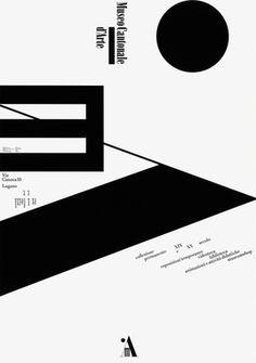 Bruno Monguzzi: manifesto (offset, 1999), per il Museo cantonale d'arte di Lugano © Bruno Monguzzi/museo cantonale d'arte lugano