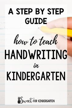 How do you teach handwriting in Kindergarten? This blog post breaks it down step by step on exactly how to teach handwriting, including tips and what to do with those students who struggle. Includes a free handwriting worksheet to try with your class! #handwriting #handwritingstrategies #kindergarten #backtoschool