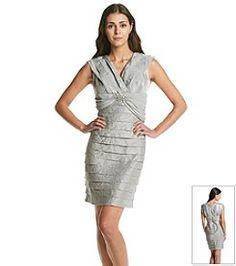 R&M Richards Plus Size All Over Lace Jacket Dress