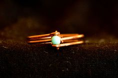 Double Copper Turquoise Stone Ring