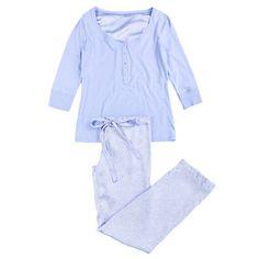 Long pyjama with satin style bottoms