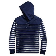 Striped Cotton Jersey Hoodie - Polo Ralph Lauren