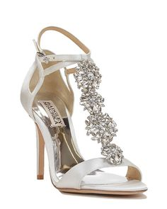 f0872ff24e8b83 Leigh Embellished T-Strap Evening Shoe Bling Wedding Shoes