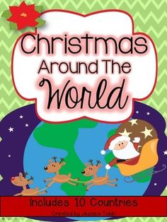**You can buy this product in a 3-product Bundle! Check it out here:  Christmas 2nd Grade Bundle  In this unit, you will find all you need to teach diversity with Christmas/Hanukkah.  I cover 10 different countries in this pack (America, Australia, Brazil, England, France, Germany, Israel, Mexico, Netherlands, Sweden).