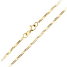 CJoL - Solid 9ct Yellow Gold 0.7mm Wide Box Chain In Simple Gift Bag (available in 16
