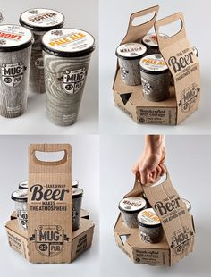 Packaging Design with Corrugated Cardboard Coffee Shop Logo, Coffee Store, Coffee Shop Design, Cafe Interior Design, Cafe Design, Food Design, Design Design, Food Packaging Design, Coffee Packaging