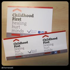 Custom printed collection bucket and box labels for Childhood First -- A charity that offers residential care, therapeutic education, therapeutic fostering and family support to vunerable children. -- For more details on our custom printed labels and charity products please visit our website at: www.charnwood-catalogue.co.uk