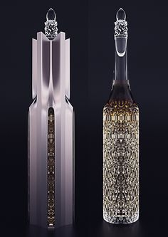 This bottle deserves display. Cathedral Cognac Bottle by Ivan Venkov. Alcohol Bottles, Liquor Bottles, Glass Bottles, Drink Bottles, Perfume Bottles, Whiskey Drinks, Cigars And Whiskey, Whisky, Concours Design