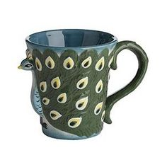 """peacock mug - I get so annoyed when people put """"I need this"""" on a pin, but I need this LOL"""