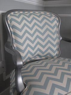 chevron upholstered chair