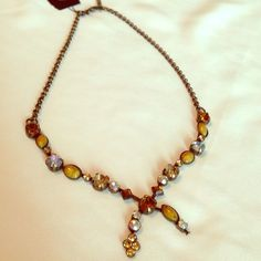 649a889f Vintage Victorian Crystal Necklace This Cookie Lee crystal necklace is full  of warm tones and shimmer to be worn with everything! The vintage antique  feel ...