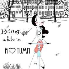 L'autunno è la stagione ideale per passeggiate in bici , non è ancora freddo e il paesaggio è pieno di colori, di toni caldi , quindi RELAX è quello di concedervi una passeggiata nella natura ...spensierate e sognanti.🍁🍂🍂🍁🎃🍂🍁 #morning #illustration #sottilettarosa #ink #artistsinlove #loverd #autumn #bike #riding #fattoconilcuore #drawing #womoms #mom #virgola #bloggers#artists #arte #florence#doll #friday #lasottilettarosa #autunno #disegno #creative #october #instapic #pic