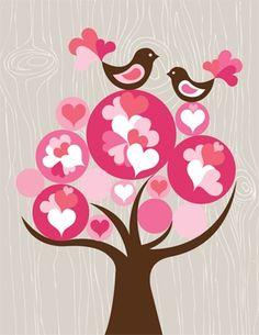 Tree Love wall mural