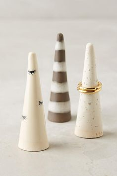 Patterned Ceramic Ring Cone - anthropologie.com