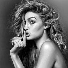 Gigi Hadid Drawing by JoeDieBestie.deviantart.com on @DeviantArt