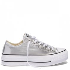ba8e2904d635 Chuck Taylor All Star Platform Lift Canvas Low Top Silver