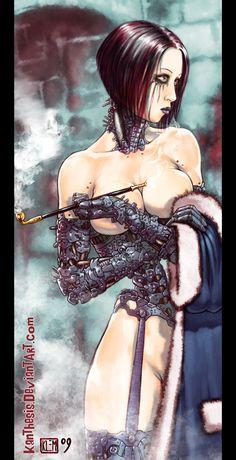 Cyborg Night Work by *Kanthesis on deviantART