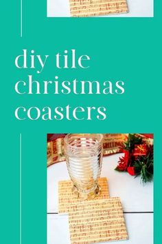 Christmas is here and these tile coasters make the perfect unique Christmas decoration. Use Christmas sheet music as we did, your favorite wrapping paper or even leftover Christmas cards to make them truly yours!